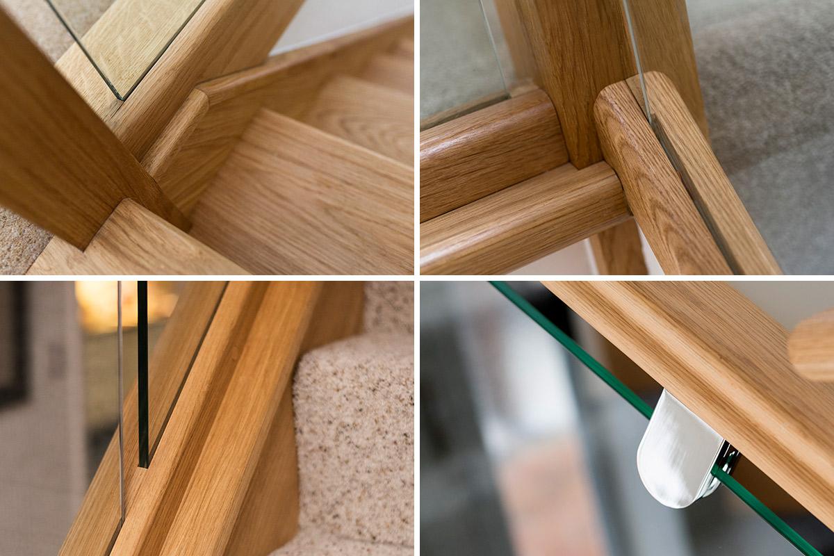 Oak & Glass Staircase Renovation