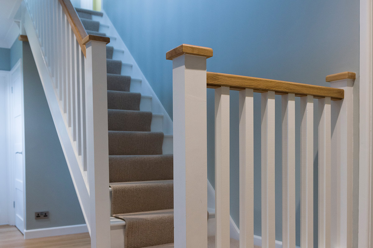 Painted Spindle Staircase Renovations