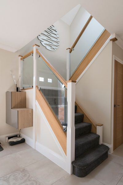 Painted & Glass Staircase Design