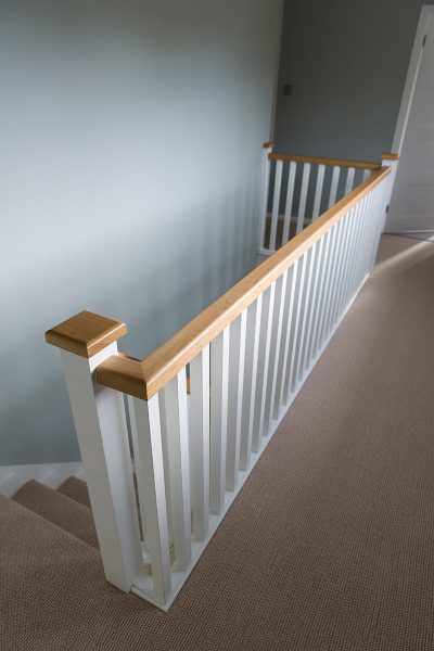 Painted Spindle Staircase Design